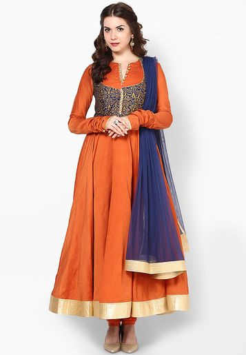 Rohit Bal For Jabong-Orange Suit Set