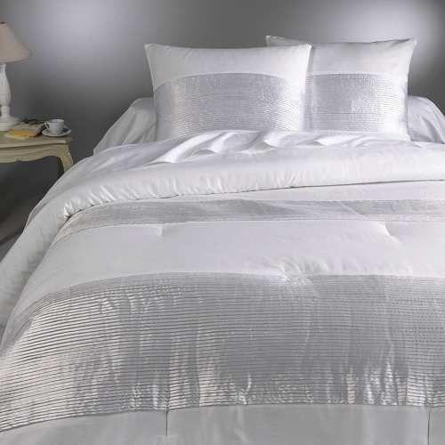 Prezzi e Sconti: #Copriletto in satin di cotone aemi Beige bianco grigio  ad Euro 76.45 in #La redoute interieurs #La redoute biancheria per casa