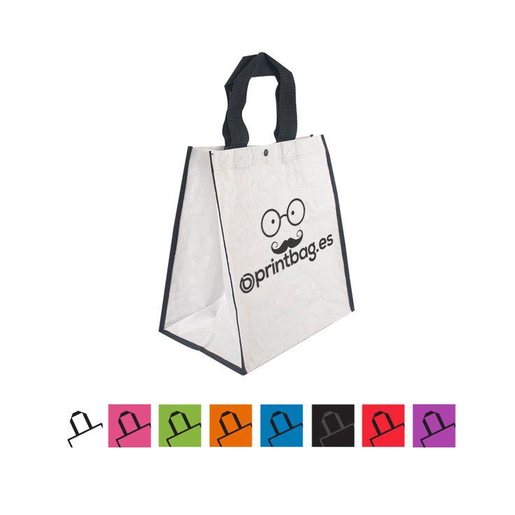 Bolsas ecológicas personalizadas con base anchas para la compra color blancas