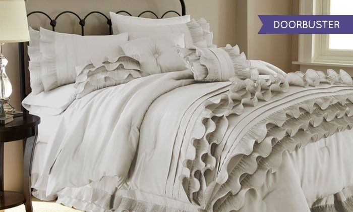 Ruffled Comforter Sets (8-Piece): Ruffled Comforter Sets (8-Piece)