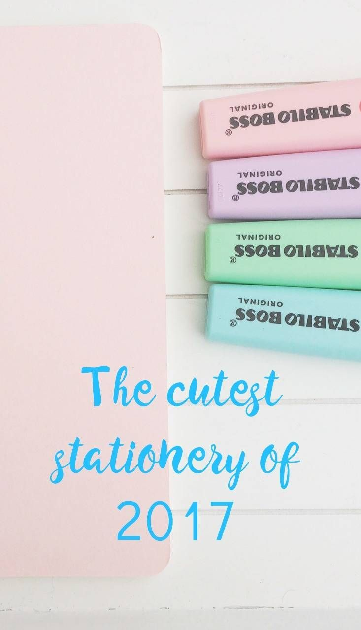 The Cutest Stationery Ever ! I just love cute stationery and this haul of the best stationery of 2017 is just delicious.