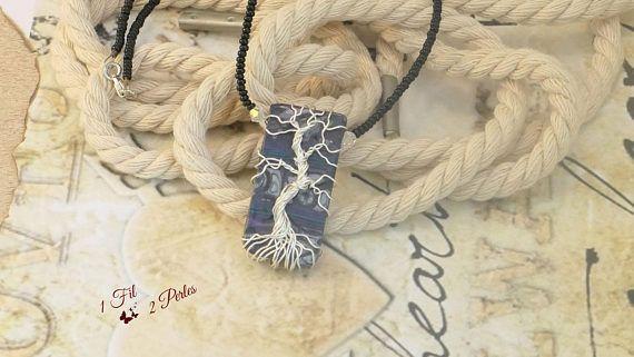 Collier Ras de Cou Arbre de Vie Argenté Wire Wrapping