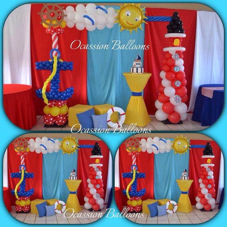 Nautical Event Decor: Nautical Themed Balloons Decoration Our Most Famous
