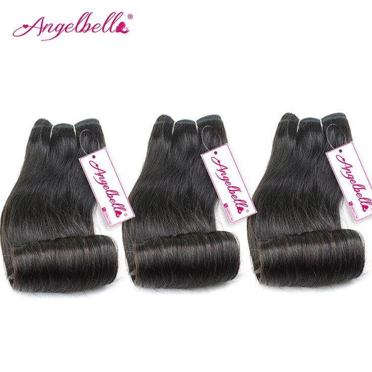 Angelbella Aunty Fumi Bundles of Brazilian Hair Remy Weaving Hair Curly Brazilian Weave Styles Straight Hair with Curls End