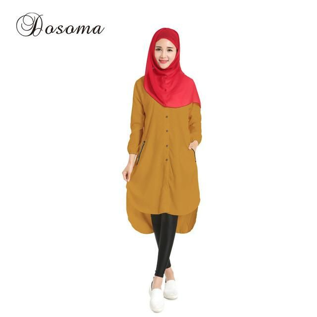 Casual Muslim Shirt Dress Islamic Chiffon Instant Hijab Abaya Kimono Women Sleeve Maxi Robe Burka Vestidos Solid Saudi Arab