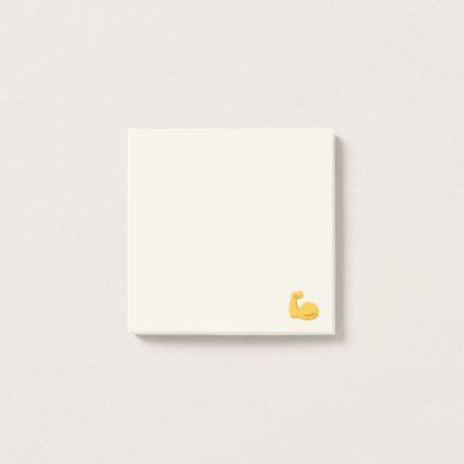 #Big And Strong Arm Emoji Post-it Notes - #giftsforhim #gift #him