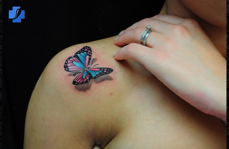 3-d tattoos designs | 3D Tattoo Design Photos, 3d Butterfly Tattoos For Girls: 3D Butterfly ...