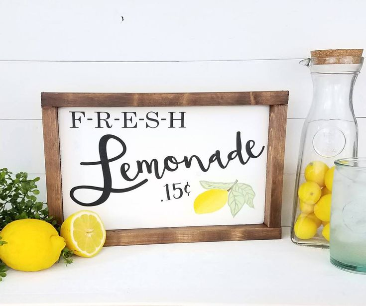 Lemonade Sign - Lemonade - Summer Signs - Summer Decor - Farmhouse Signs - Farmhouse Decor - Summer - Lemonade Signs - Fresh Lemonade Sign by TheMtnBluebirdCo on Etsy https://www.etsy.com/listing/501747850/lemonade-sign-lemonade-summer-signs