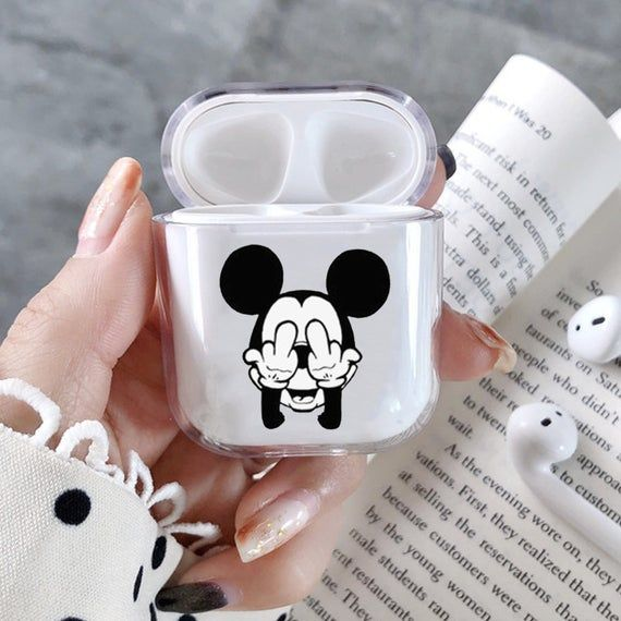 Mickey Mouse Airpods Case Cover Apple Airpod Diseny Mickey Mouse Case Inspired Disney Airpods Holder Cute Ipod Cases Apple Phone Case Luxury Phone Case