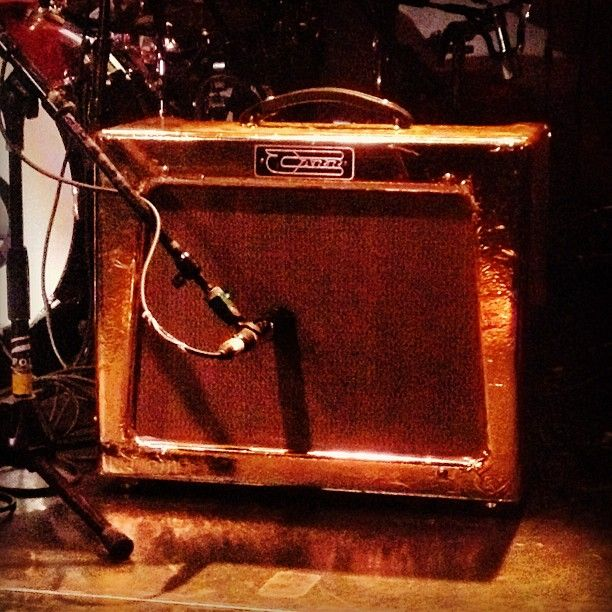 More Monster gold. Madi's amp at the Bootleg Theater LA Madi Diaz live rig. #madidiaz #bootlegtheater #carr #carramp #comboamp #gold