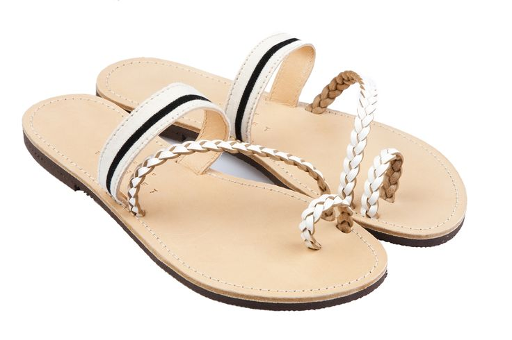 Isapera sandals : Peonia in Stripes