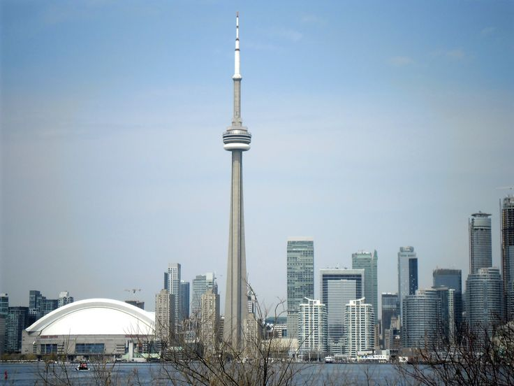 Toronto skyline from Toronto Island, CN Tower