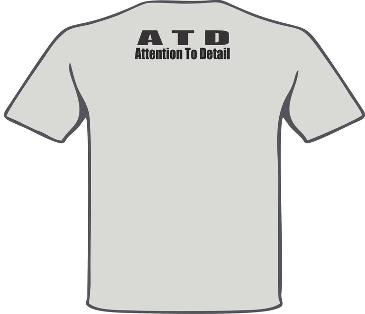 """A.T.D."" Attention to Detail back piece on a Ash Grey T-Shirt for the 2015 football Coaching Staff of Ayala High School. #PracticeGear #BulldogNation #AyalaBulldogs #ArtWorkRendering"