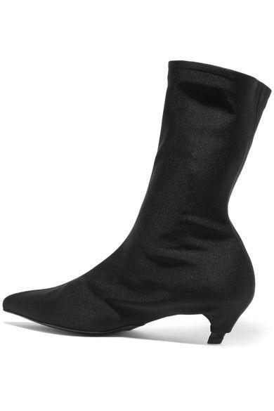 Balenciaga - Spandex Ankle Boots - Black - IT38.5