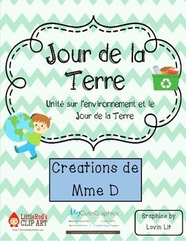 Unité sur l'environnement - Jour de la Terre   Good for French, French Immersion or core French learners!   Great activities all in French for an environment unit or to celebrate Earth Day!   Activités à propos de l'environnement et le Jour de la Terre.   36 pages!