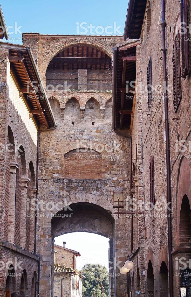 San Giovanni Gate, San Gimignano royalty-free stock photo