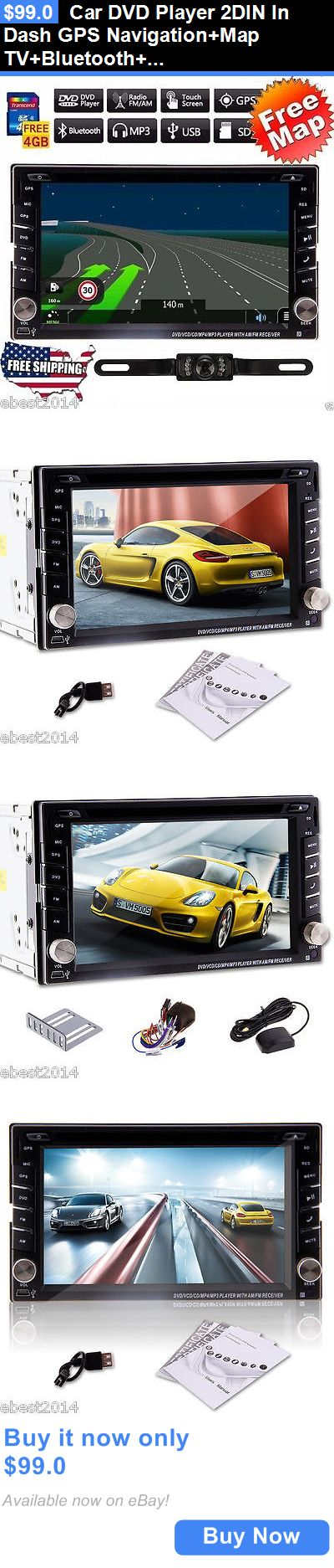 Vehicle Electronics And GPS: Car Dvd Player 2Din In Dash Gps Navigation+Map Tv+Bluetooth+Radio Stereo+Camera BUY IT NOW ONLY: $99.0