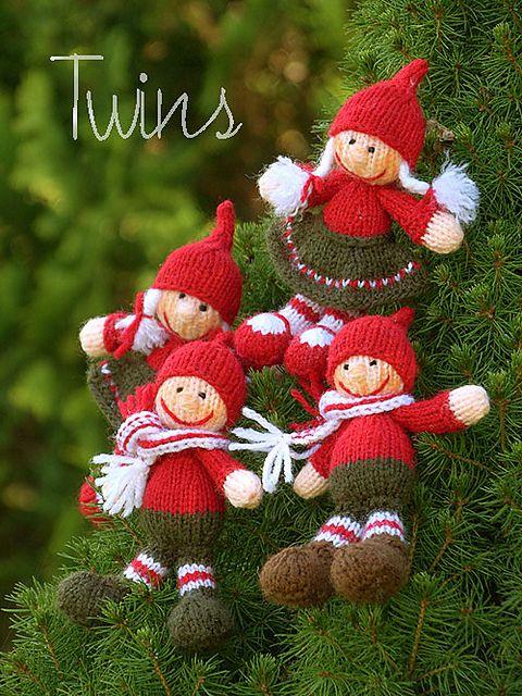 Christmas Gnome Knitting Pattern : Ravelry: Christmas Gnome Dolls pattern by Ala Ela Christmas Knits Pintere...