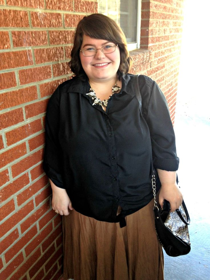 Unique Geek: Plus Size OOTD: Camel & Black: