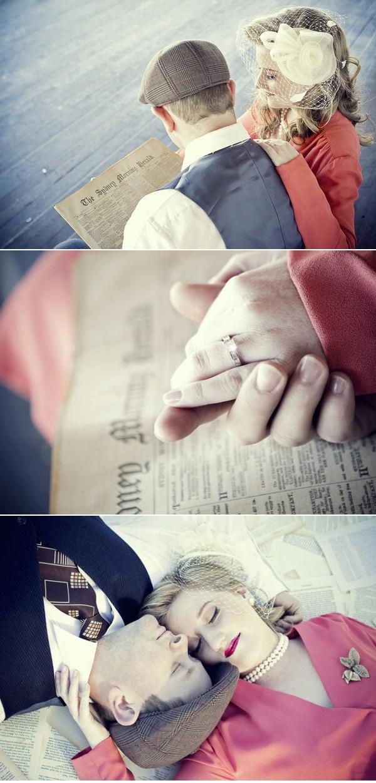 '50s Inspired Engagement Photo Shoot