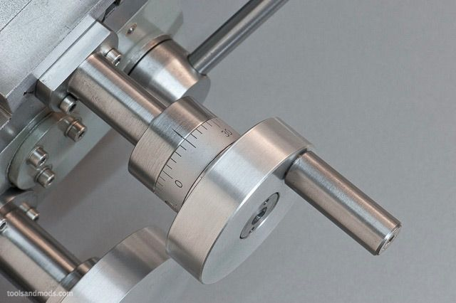 Mini-lathe cross slide extension and thrust bearing