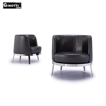 Modern black low back leather restaurant chair for sale used
