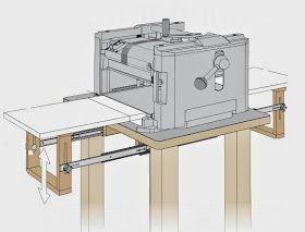 Ah! E se falando em madeira...: Extensão dobravel para maquinas