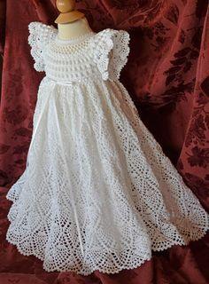 Blanc de baptême / bénédiction robe avec par CherryHillCrochet                                                                                                                                                                                 More