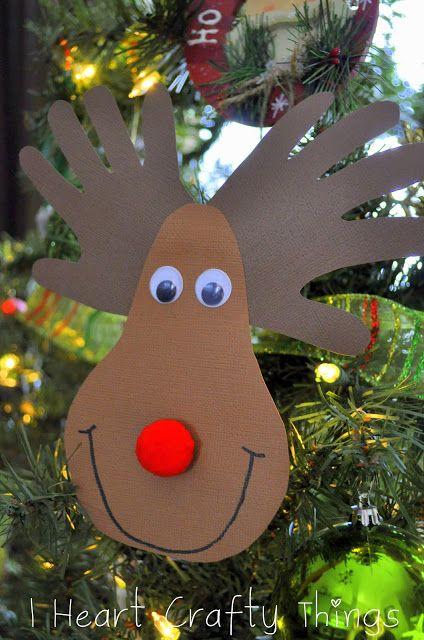 I HEART CRAFTY THINGS: Handprint Reindeer Ornament