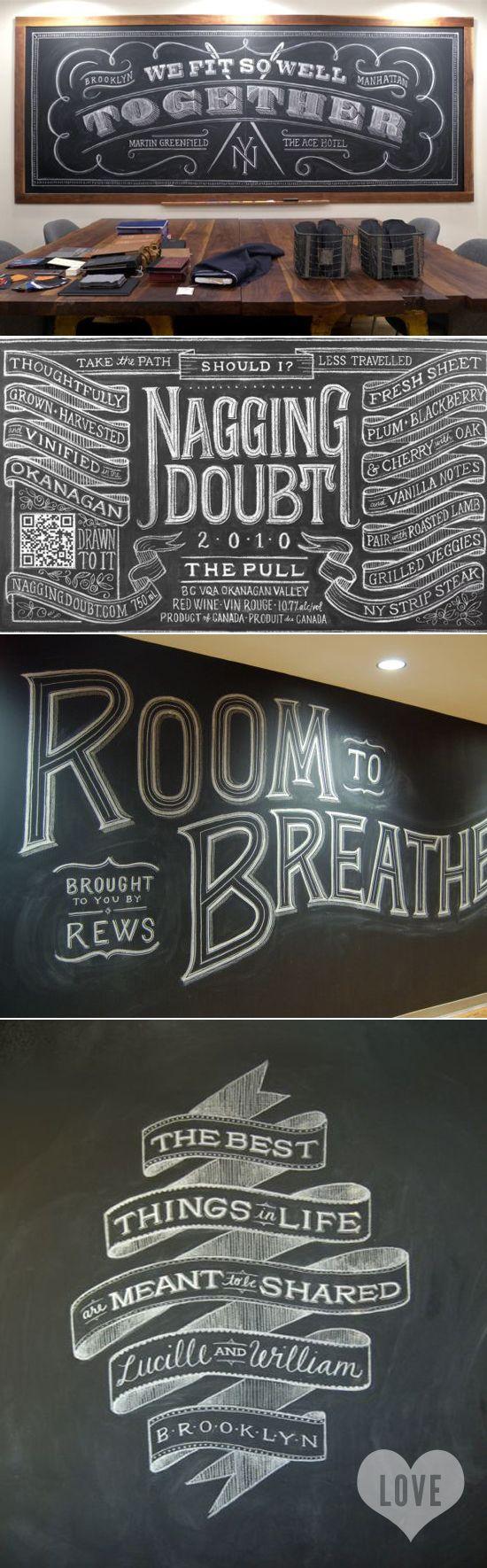 dana tanamachi inspired to share - chalkboard art