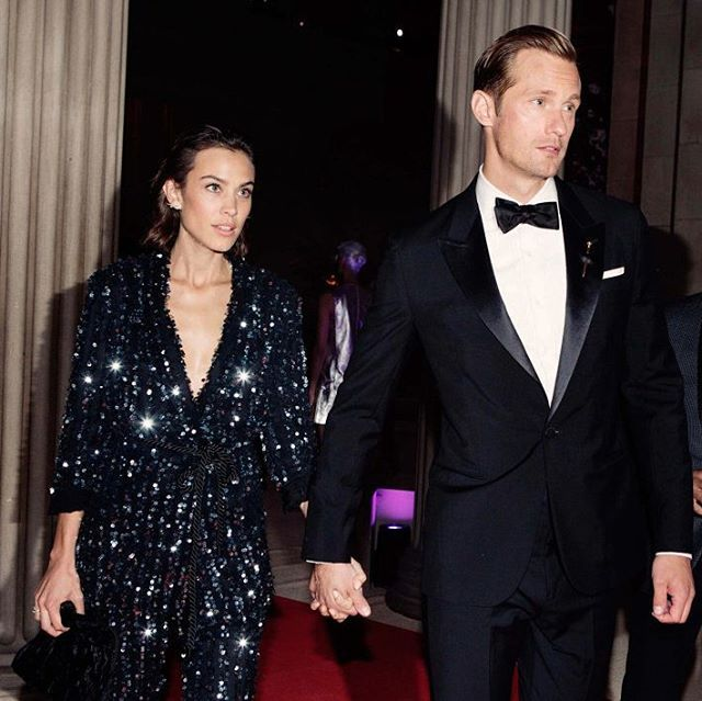Alexa Chung and Alexander Skarsgard at the 2016 Met Gala...  Is there a more beautiful couple?