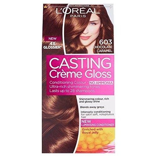 L'Oréal Paris Casting Creme Gloss Hair Color - No Ammonia (603 Chocolate Caramel)
