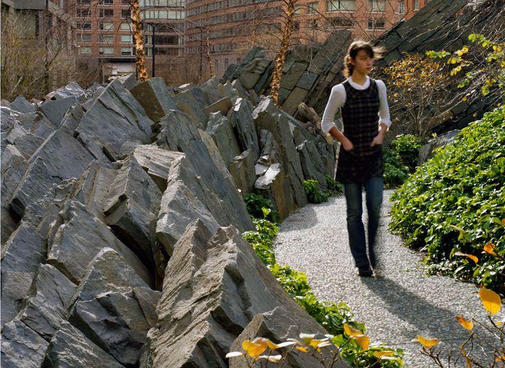 Teardrop Park, NYC - photo by Elizabeth Felicella
