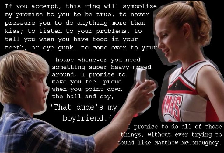 glee episode furt | Sam: I wanna marry you, someday. Until then, will you accept this ...