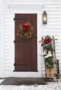 red doors with christmas decor - Bing Images