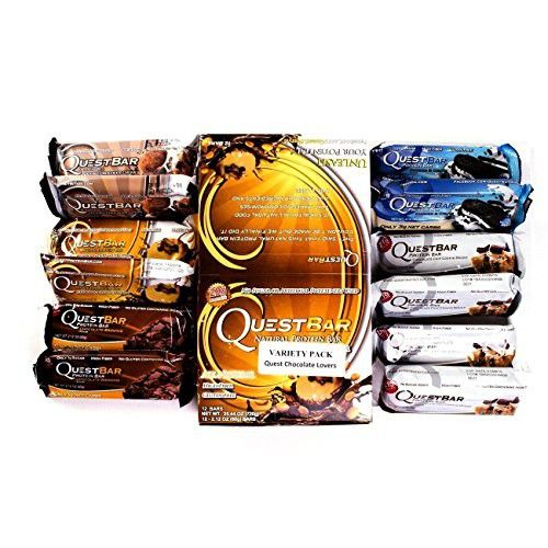 Title Quest Nutrition Protein Bar - Chocolate Lovers 2.12 oz Variety (Pack of 12) (Packaging may vary)