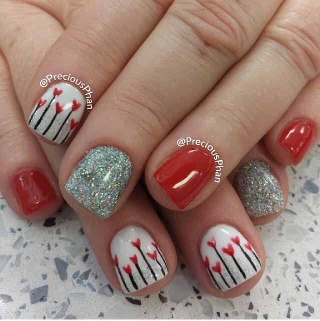 Valentines nails:)