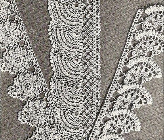 crochet edgings patterns 1941 - #vintage 1941 #crochet history