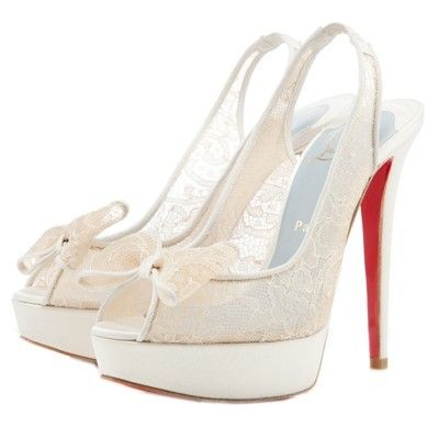 Chaussure Louboutin Pas Cher Pompes Exclu 140mm Dentelle Blanc0 #shoesforwomen