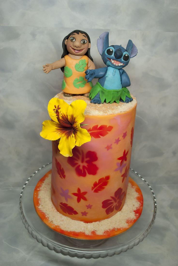 Dort Lilo a Stitch. Lilo and Stitch Cake.