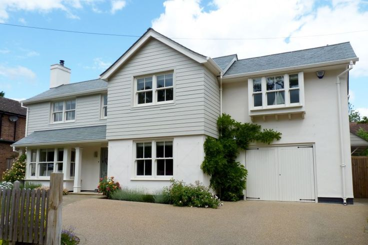 Originally a dated house in Bishop's Stortford, Hertfordshire was given a completely new look and an interior to suit modern family life.