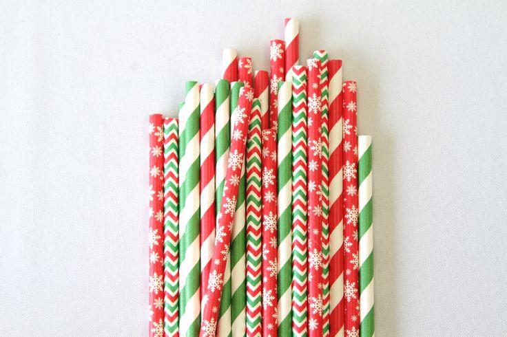 Christmas Paper Straws | The Paper Lantern |
