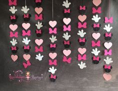 Minnie Mouse Garlands set of pink VERTICAL by BrandalynsPaperie