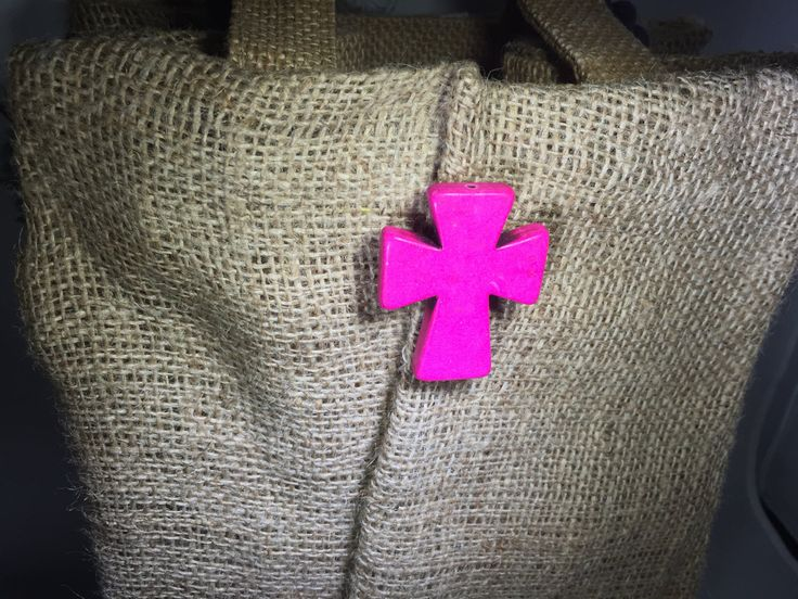 Pink Cross//Stone Cross//Cross Jewelry//Key Holder//Gift for her//magnet//Attractable//Bridesmaid Gift by AttractablesICT on Etsy