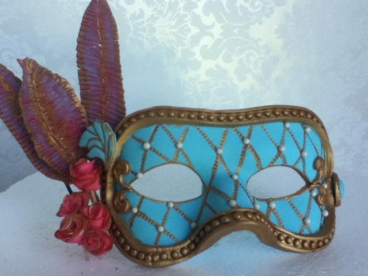 Quinceañera mask/ Masquerade mask/ Venitian mask ...