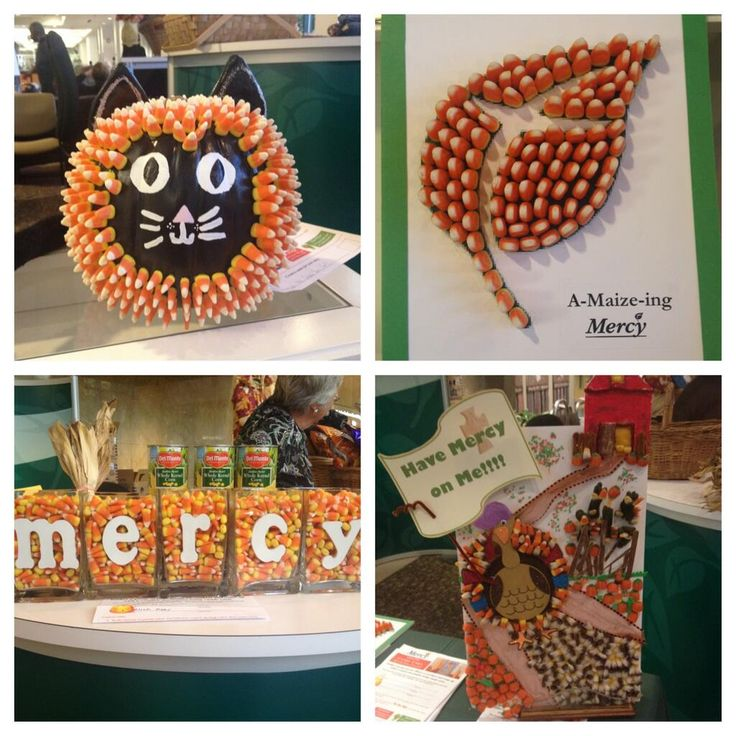 the a maizing mercy medical center made some pretty sweet fall creations for their united way