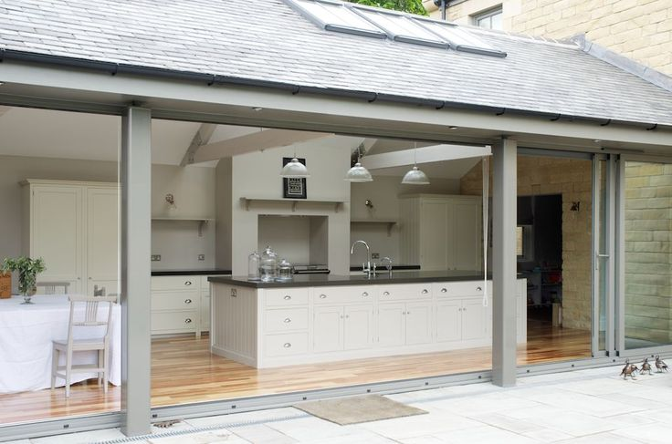 kitchen extension | sliding patio doors | wall of glass