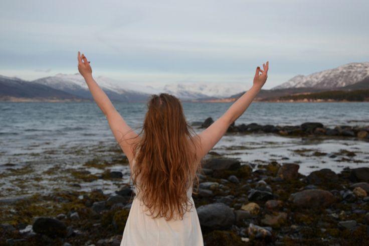 Little prayer. Me on the fjord in Nesna, Helgeland, Norway.