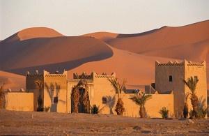 au milieu d'un désert