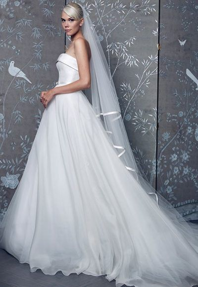 Simple Ball Gown Wedding Dress by Romona Keveza - Image 1